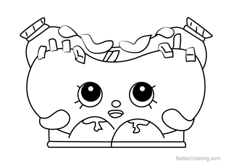 Free Frank Furter from Shopkins Coloring Pages printable