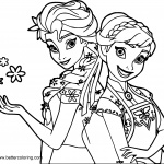 Elsa And Anna Coloring Pages By Shakav088