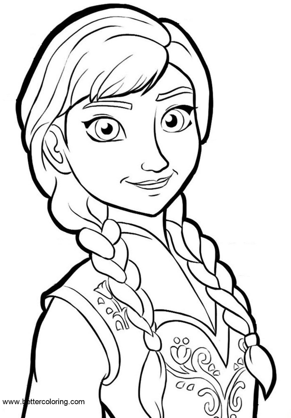 Free Frozen Princess Anna Coloring Pages printable