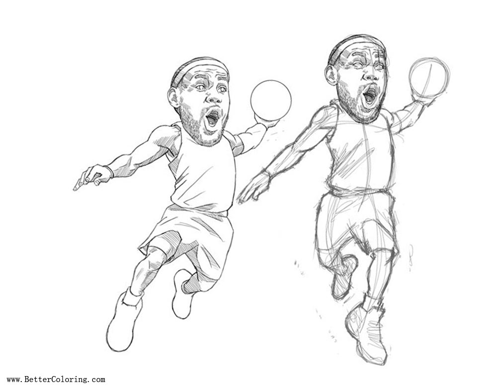 Free Funny Lebron James Coloring Pages printable