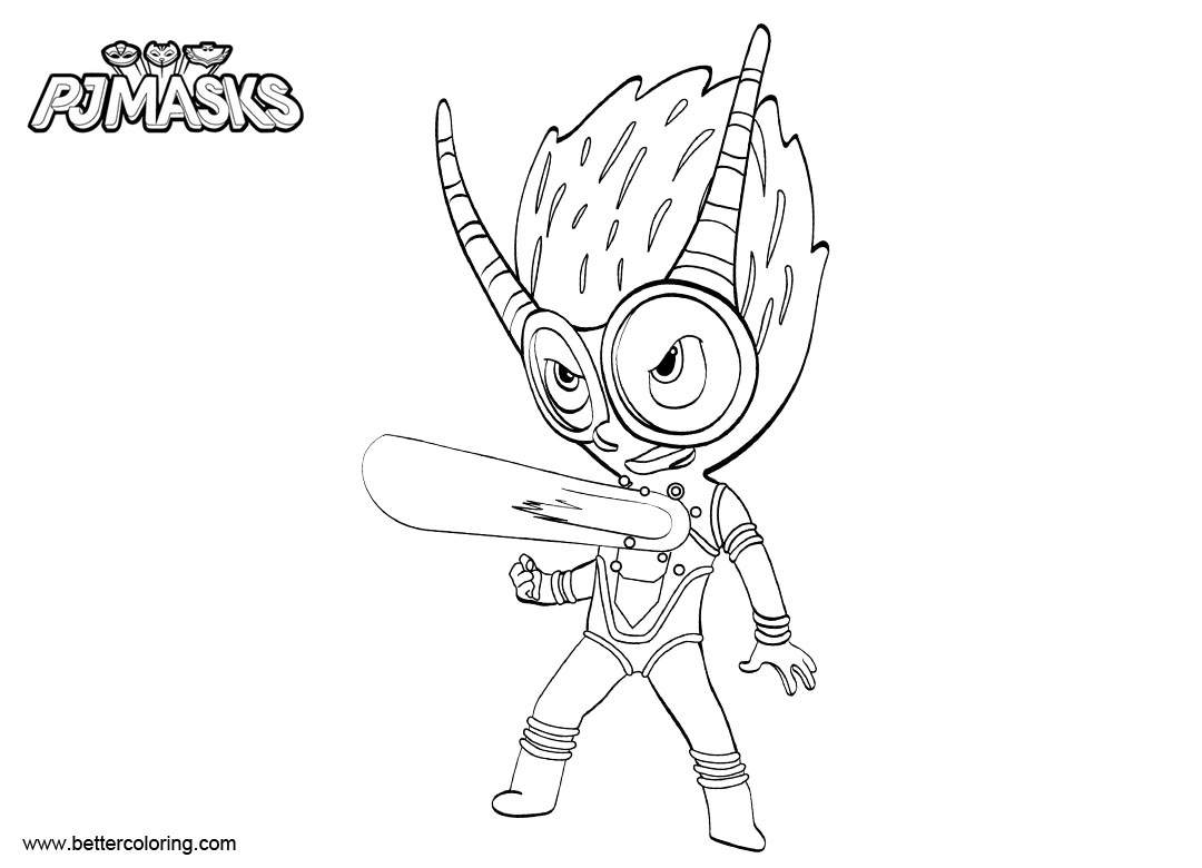 image regarding Printable Pj Masks Coloring Pages referred to as Gecko towards Pj Masks Coloring Web pages Line Drawing - Cost-free