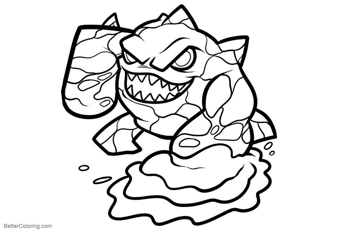 Free Giants from Skylanders Coloring Pages printable