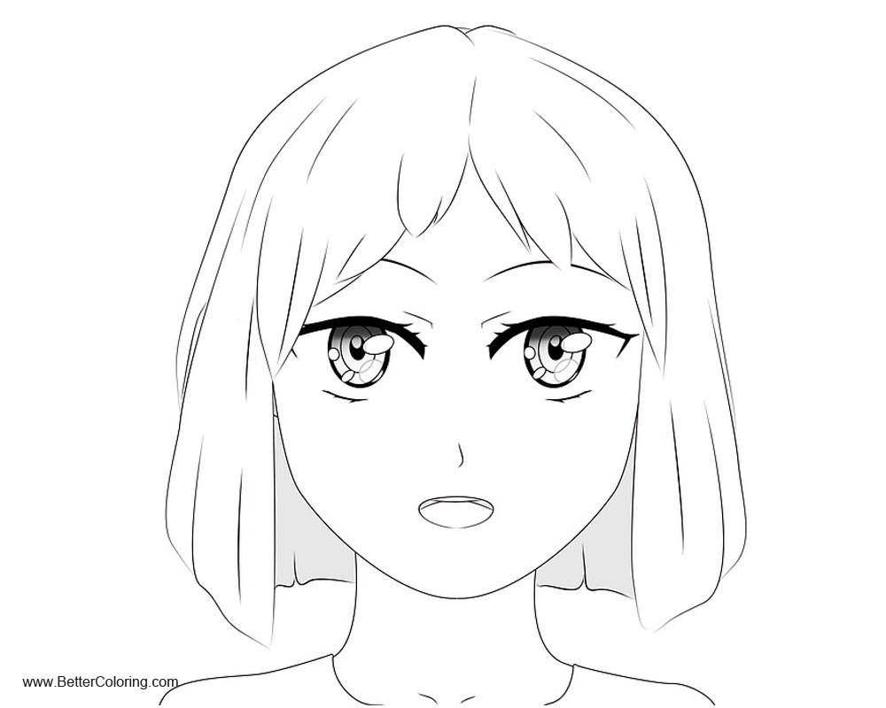 Girly Coloring Pages Anime Manga Free Printable Coloring