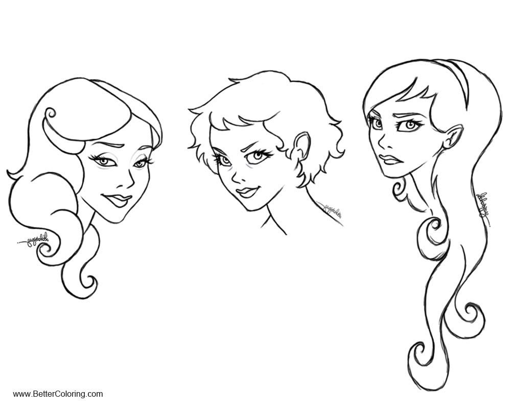 Free Girly Coloring Pages Cullen Girls Lineart by Loleia printable