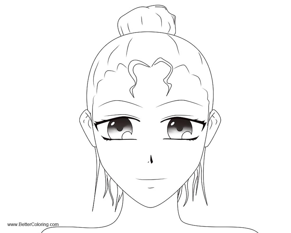 Free Girly Coloring Pages Female Cartoon printable