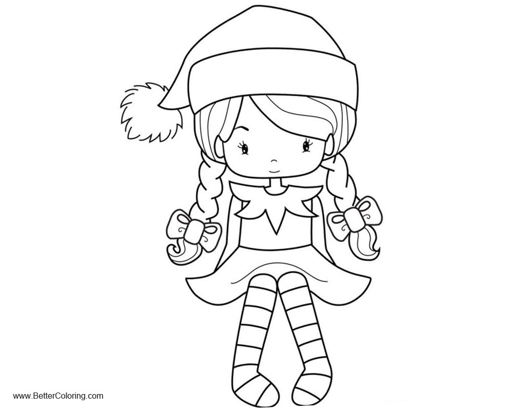Free Girly Coloring Pages Girl in Hat printable