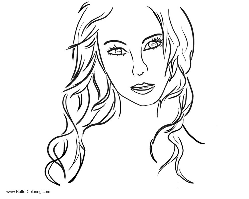 Free Girly Coloring Pages Headshot printable