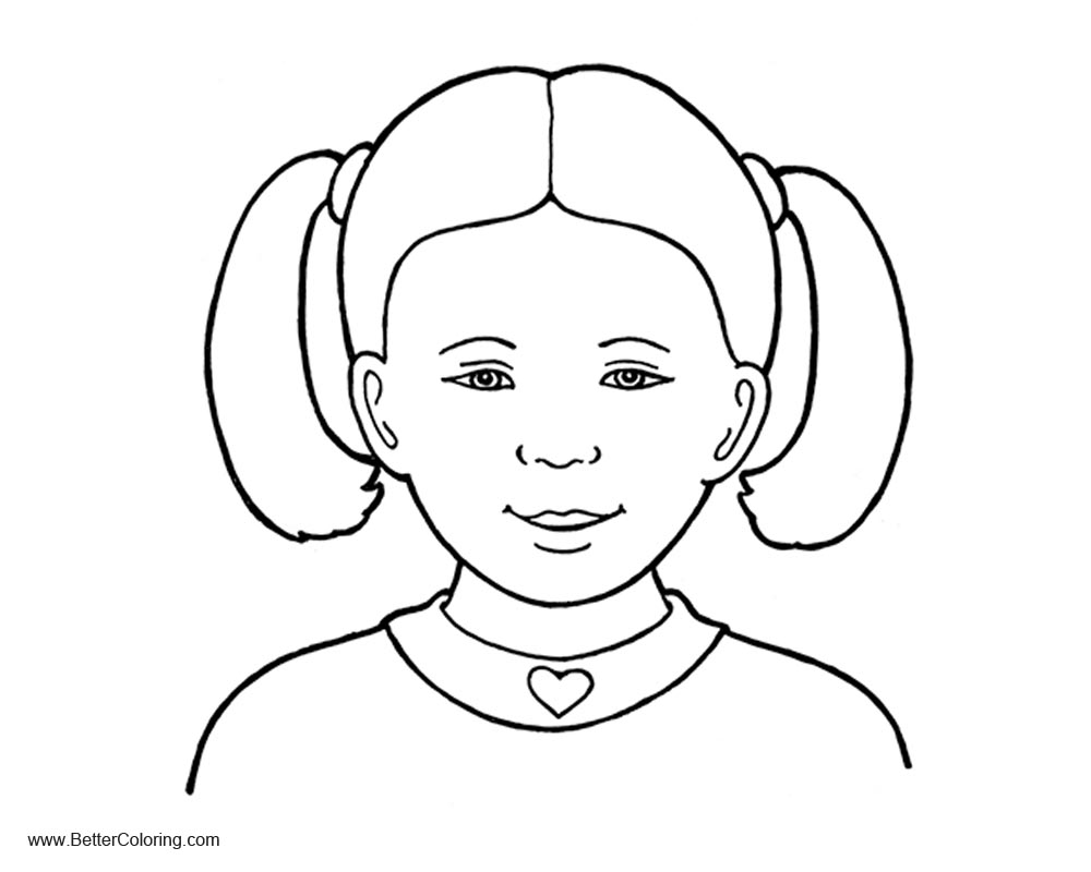Free Girly Coloring Pages Line Art printable