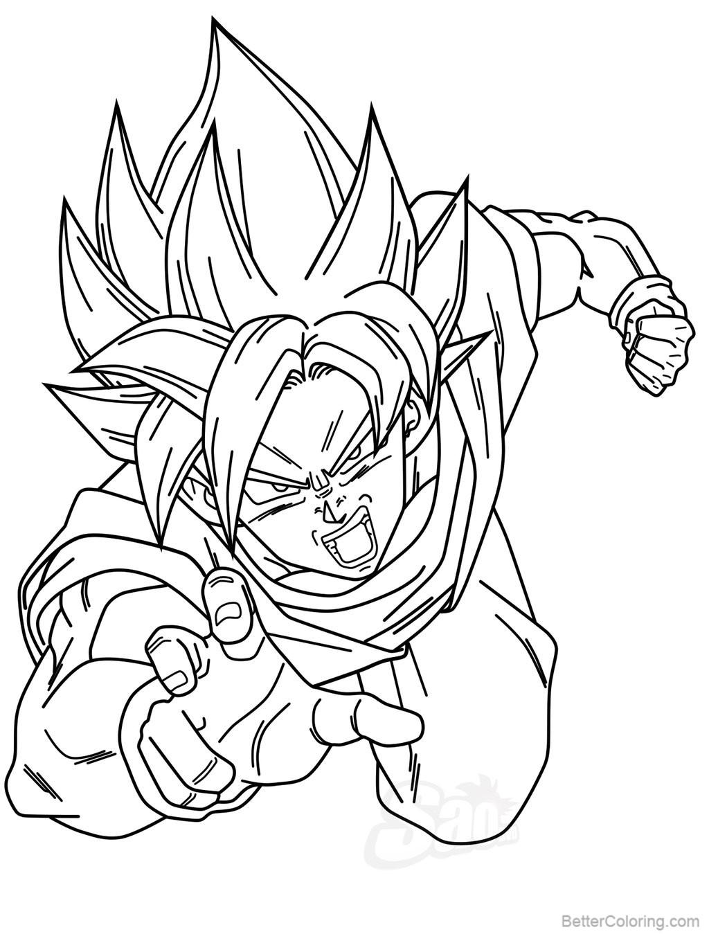 Goku Vegeta Coloring Pages by saodvd - Free Printable ...