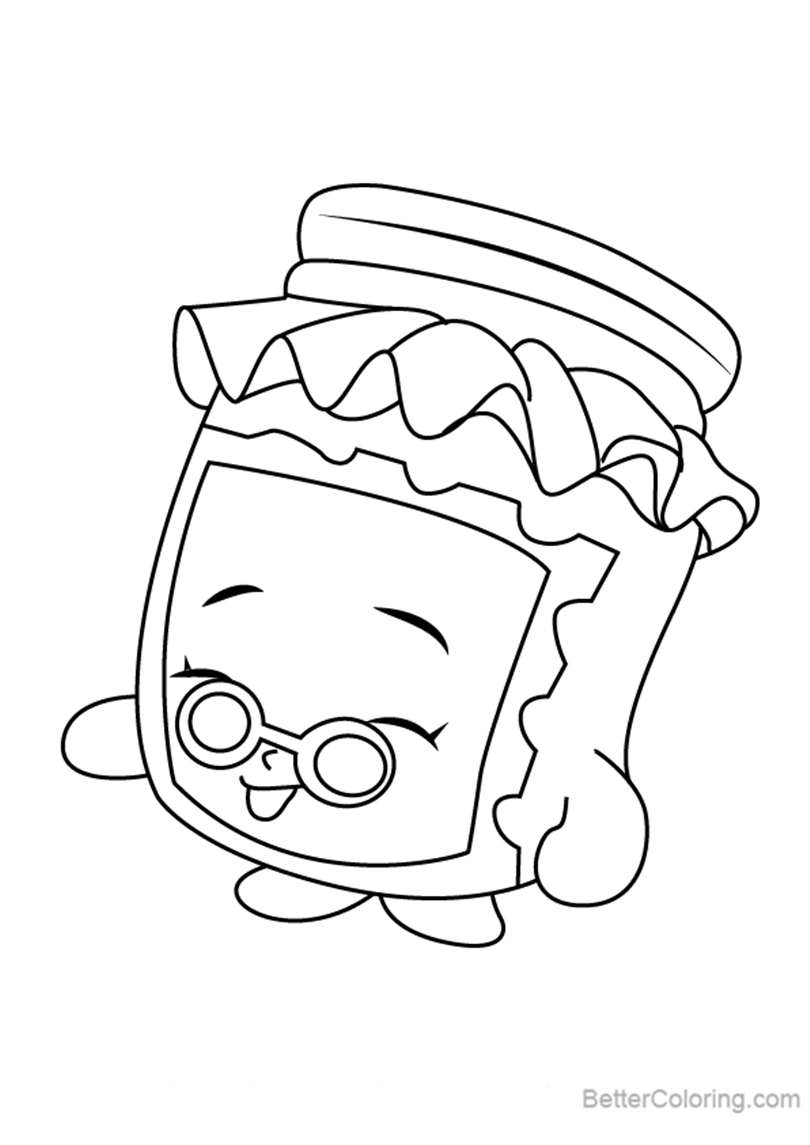 Free Gran Jam from Shopkins Coloring Pages printable