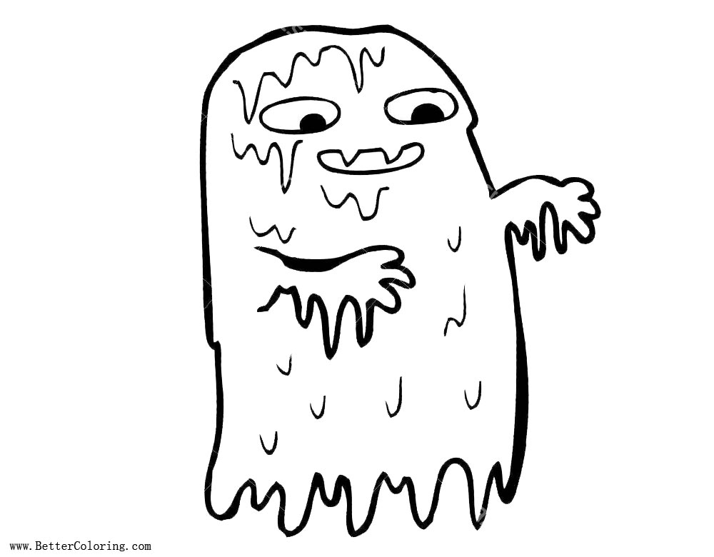 Free Gross Slime Coloring Pages Ghost printable