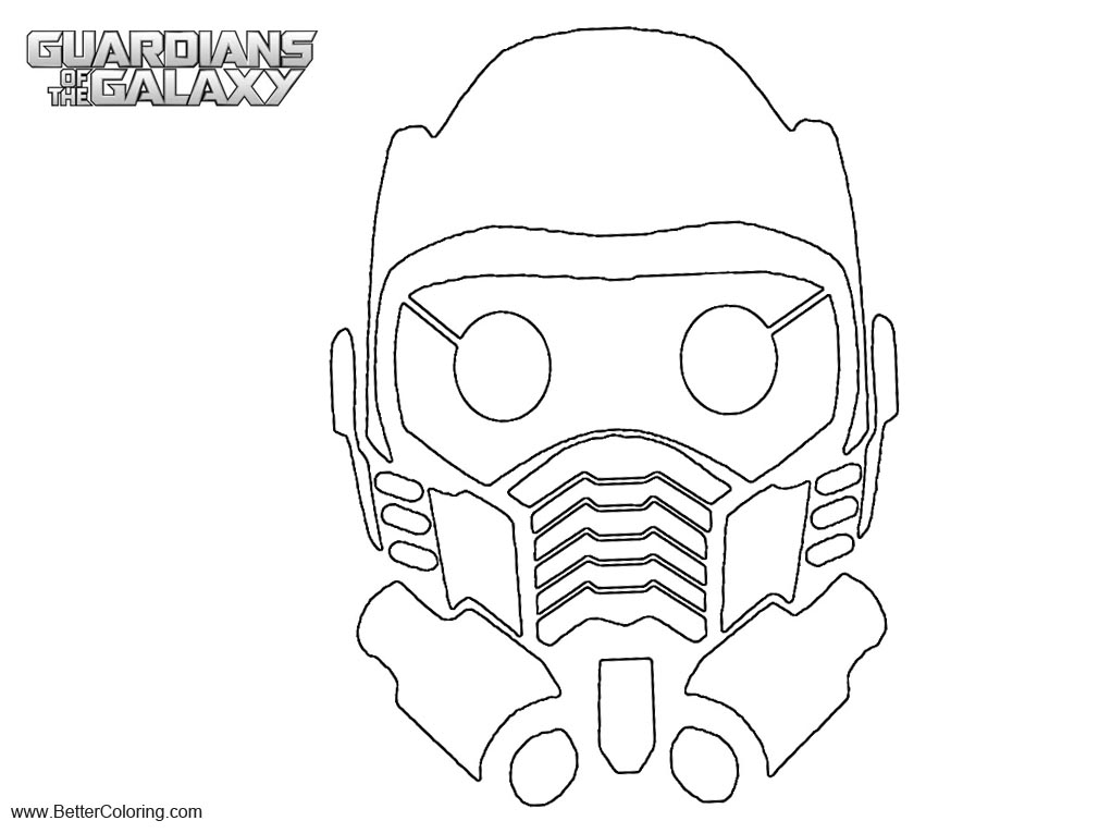 Guardians of the Galaxy Coloring Pages Star Lord Mask - Free ...