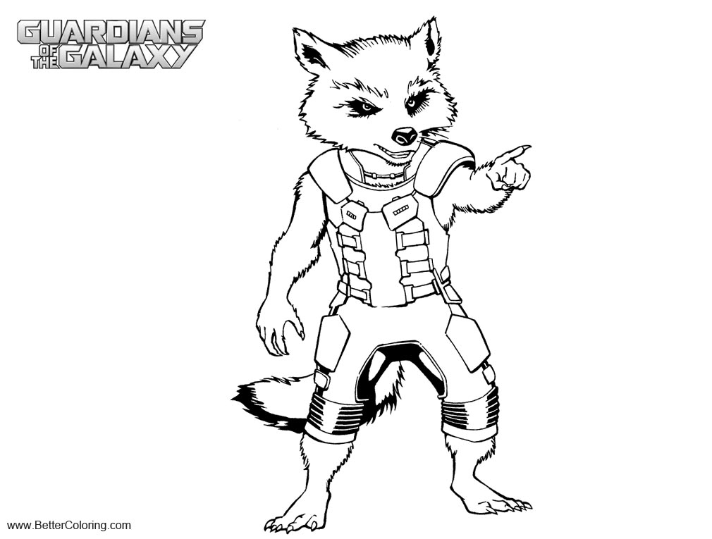 Rocket Raccoon And Groot Pages Coloring Pages
