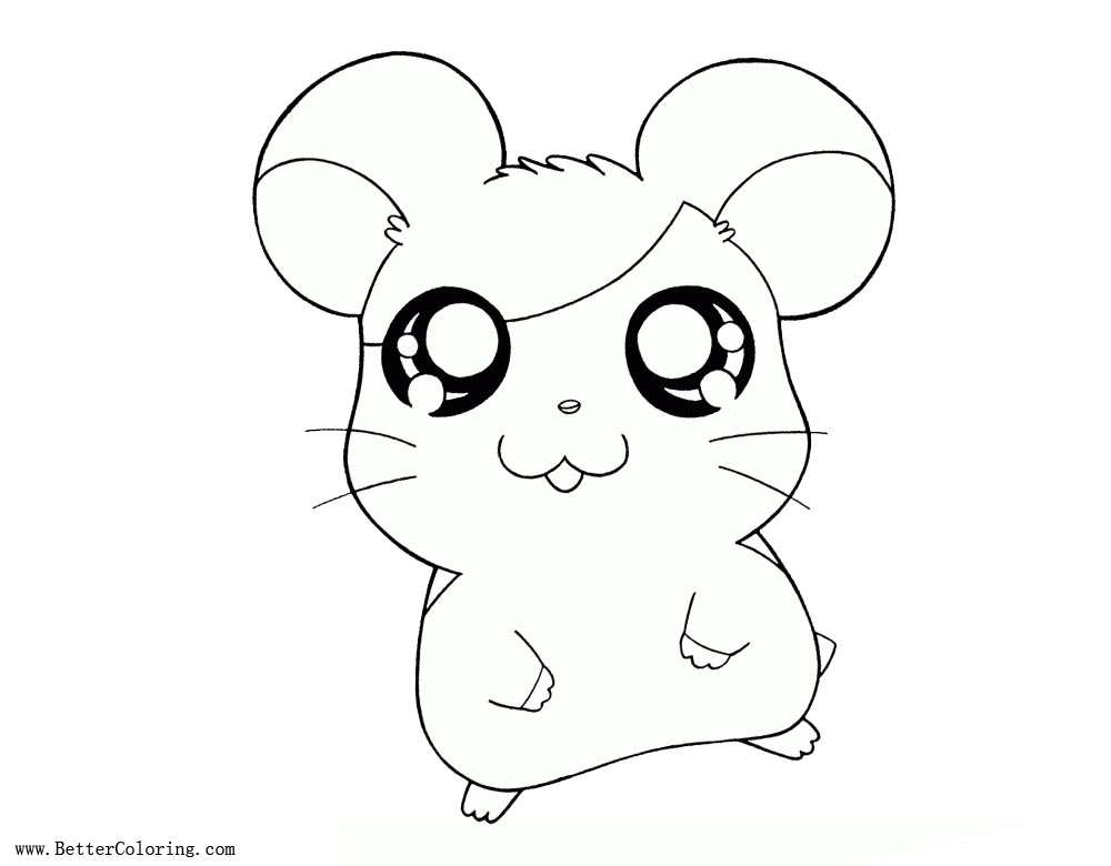 Free Hamster Coloring Pages Cartoon printable
