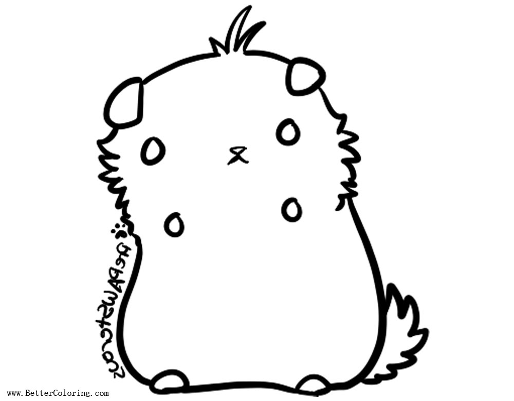 Hamster Coloring Pages Lineart