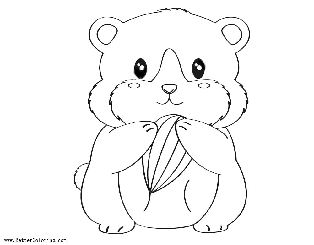 Hamster Coloring Pages Lineart Free Printable Coloring Pages