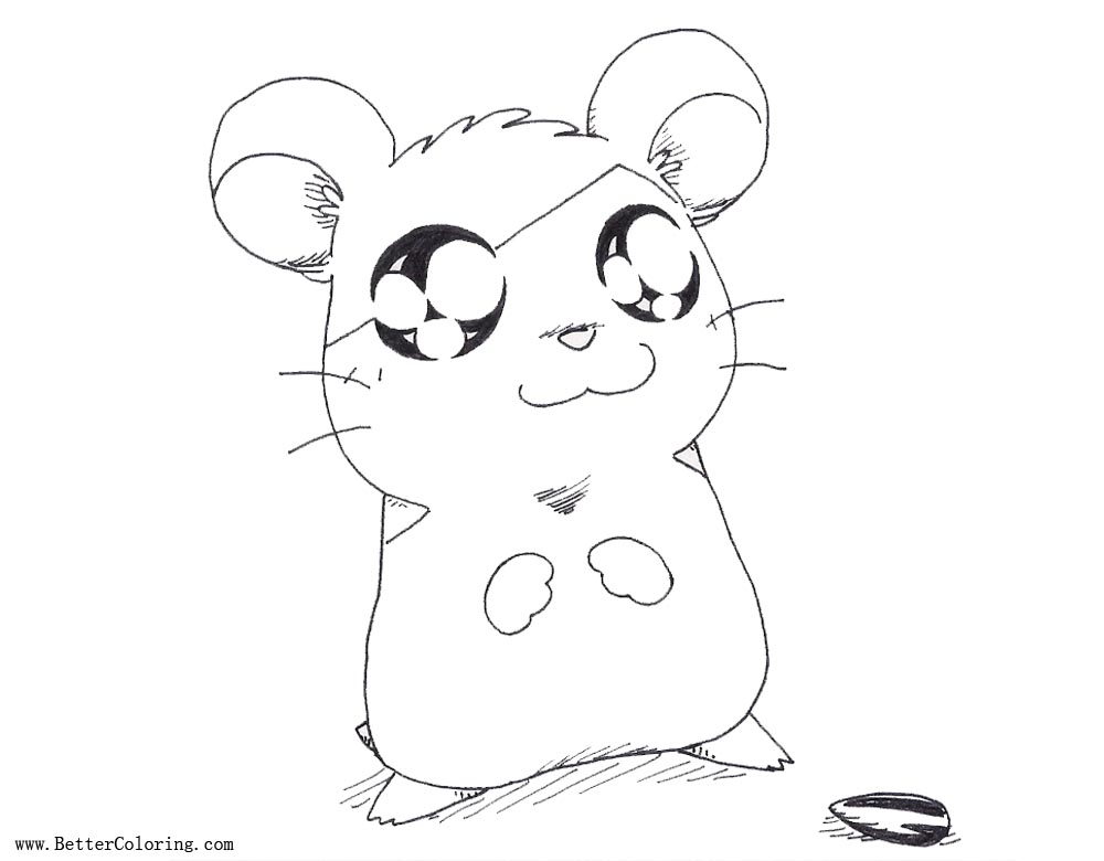 Hamtaro the Hamster Coloring Pages by Lady Kappa - Free Printable ...