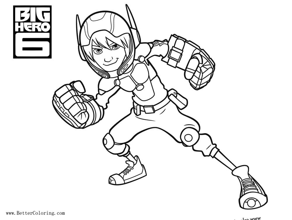 Free Hiro Hamada from Big Hero 6 Coloring Pages printable
