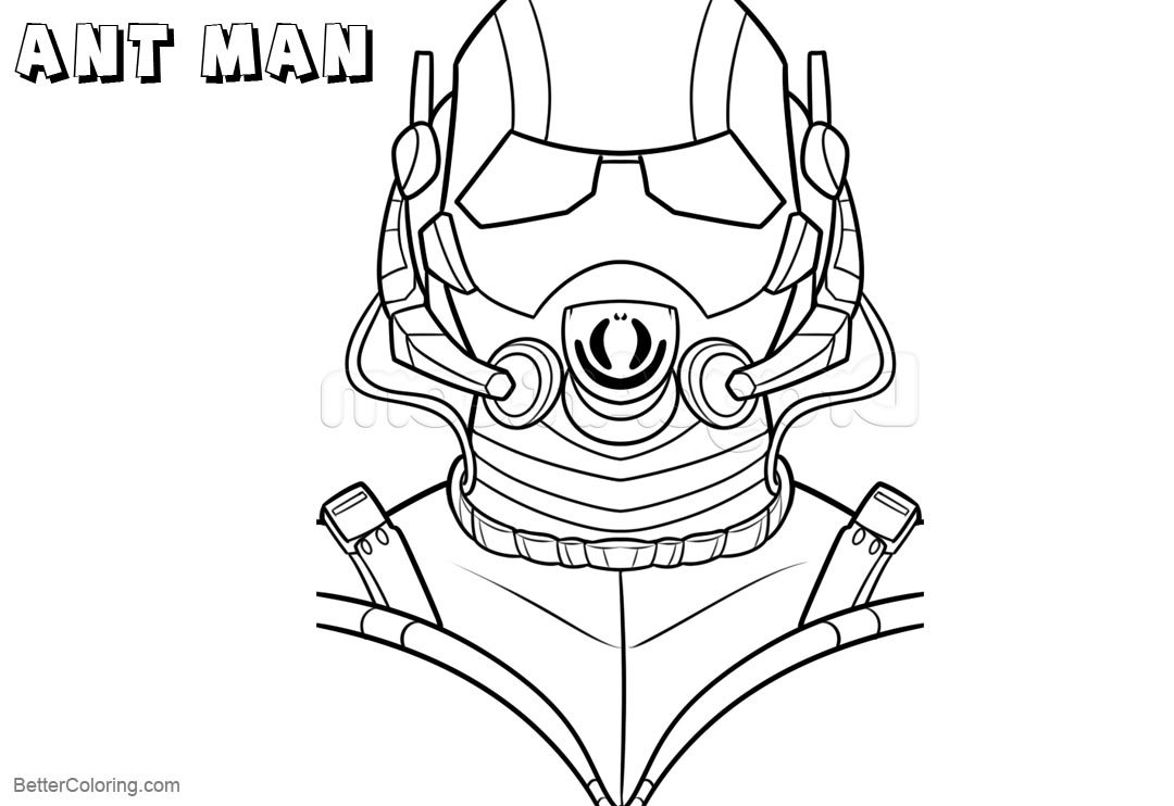 Free How to Draw Ant Man Coloring Pages printable