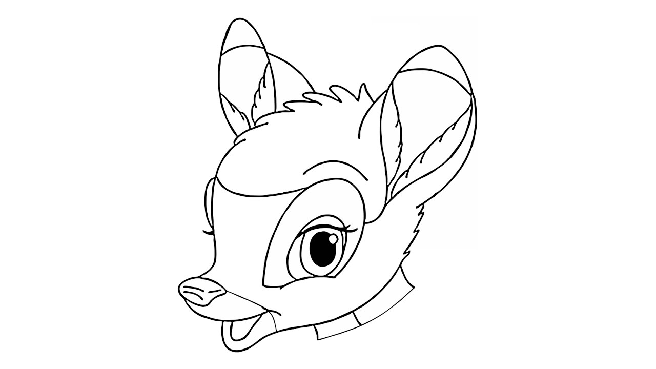 Free How to Draw Bambi Coloring Pages printable