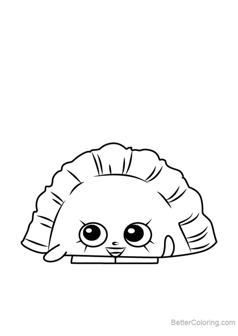 Free Humpty Dumpling from Shopkins Coloring Pages printable