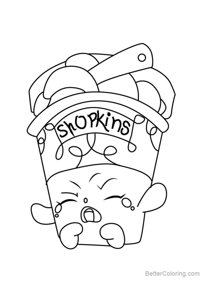Ice Cream Dream from Shopkins Coloring Pages Free