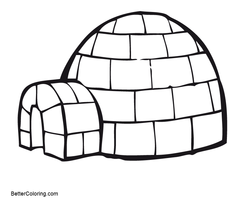 printable igloo coloring pages - photo#18