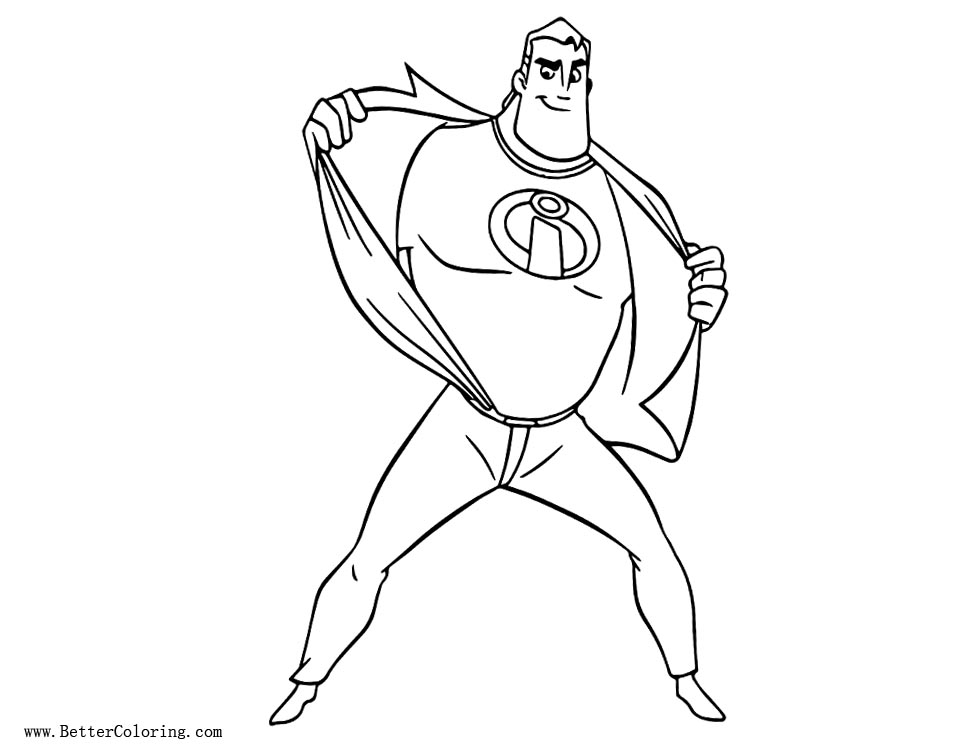 Free Incredibles 2 Coloring Pages Lineart printable