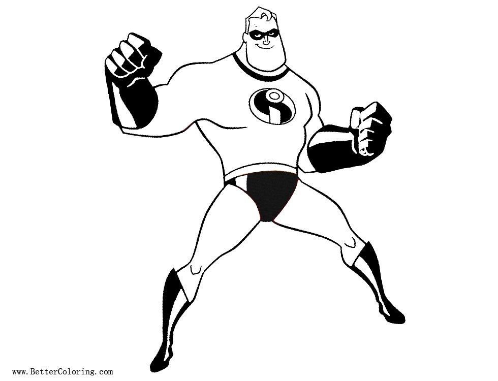 Incredibles 2 Coloring Pages Mr