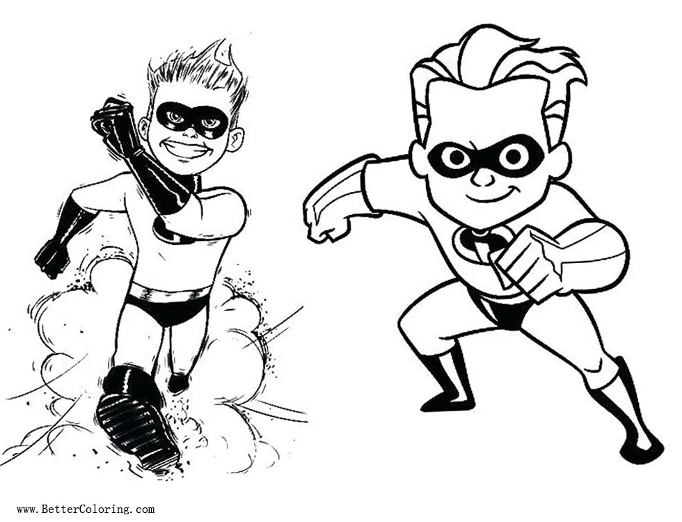 Free Incredibles 2 Coloring Pages printable
