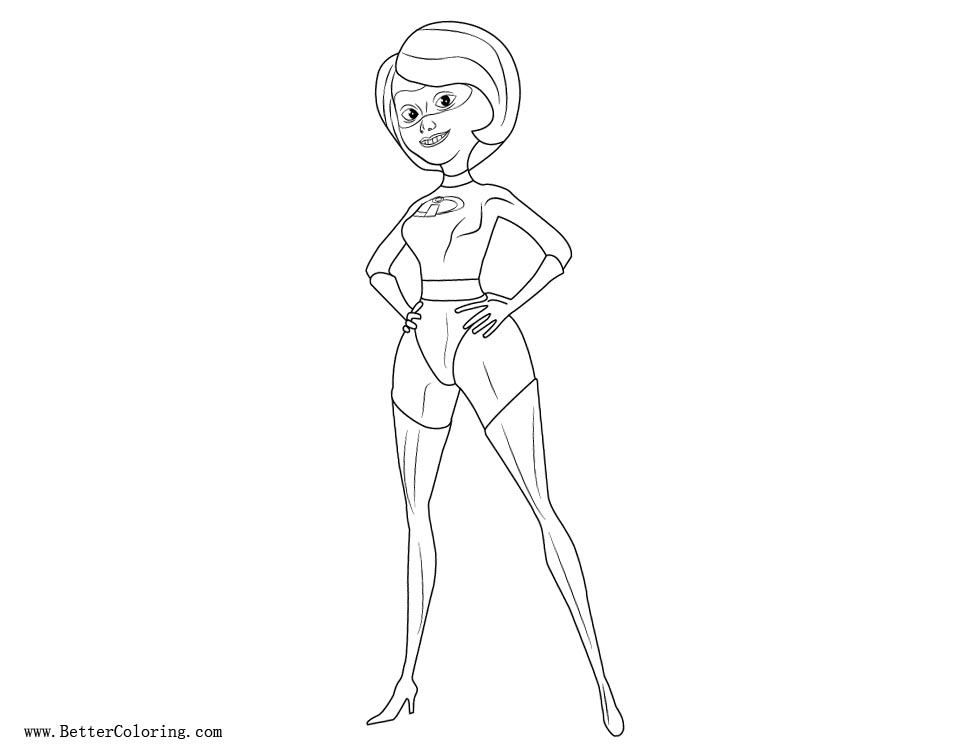 Incredibles Coloring Pages Elastigirl