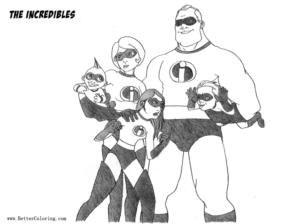 Free Incredibles Coloring Pages Fan Art by creid printable