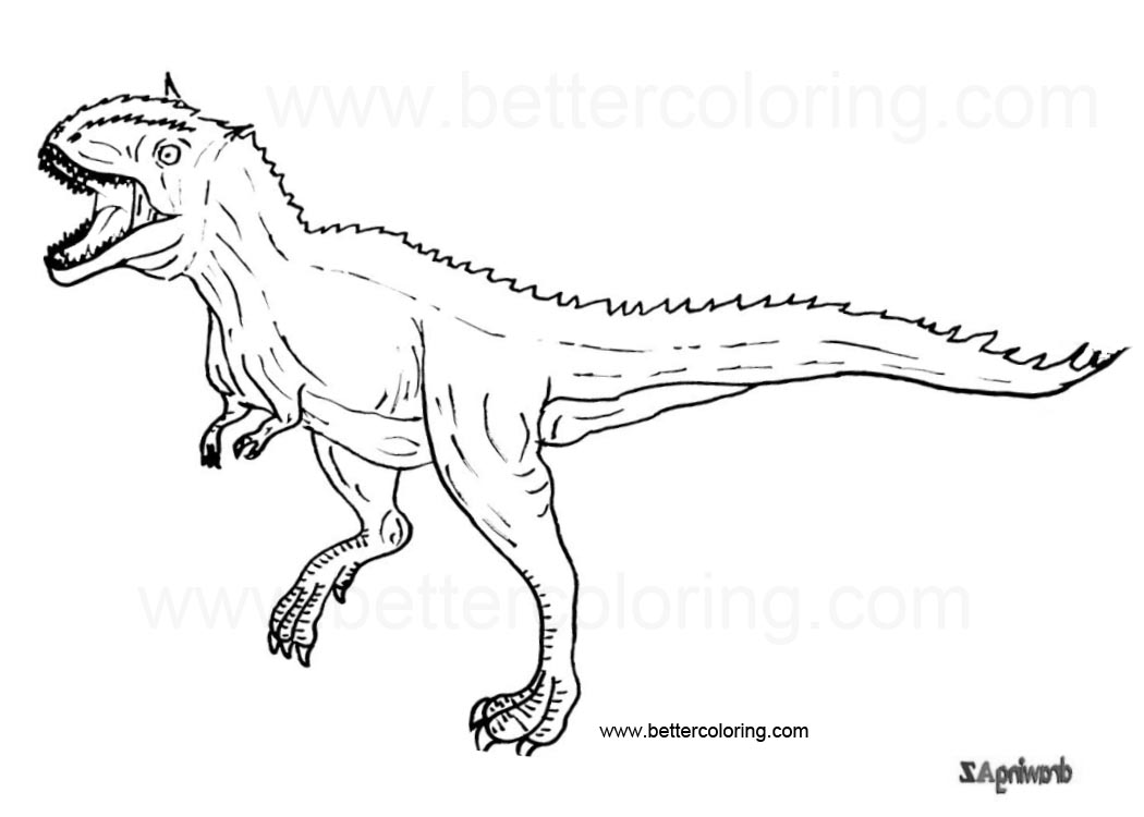Free Indoraptor Coloring Pages printable