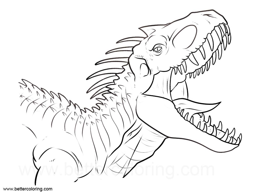 Indoraptor from Jurassic World Coloring Pages - Free ...