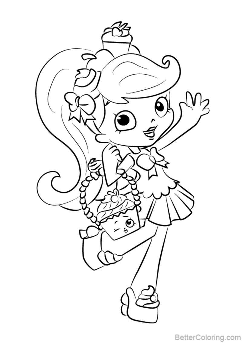 Free Jessicake from Shopkins Coloring Pages printable