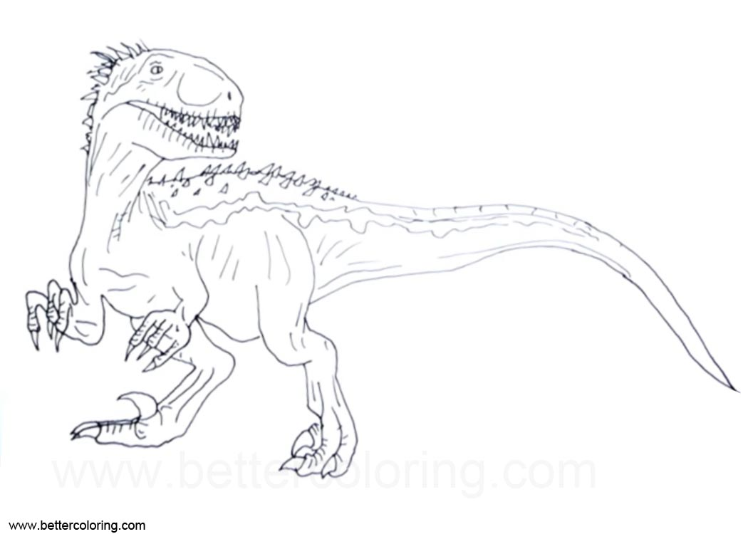 Free Jurassic World Indoraptor Coloring Pages Clipart printable