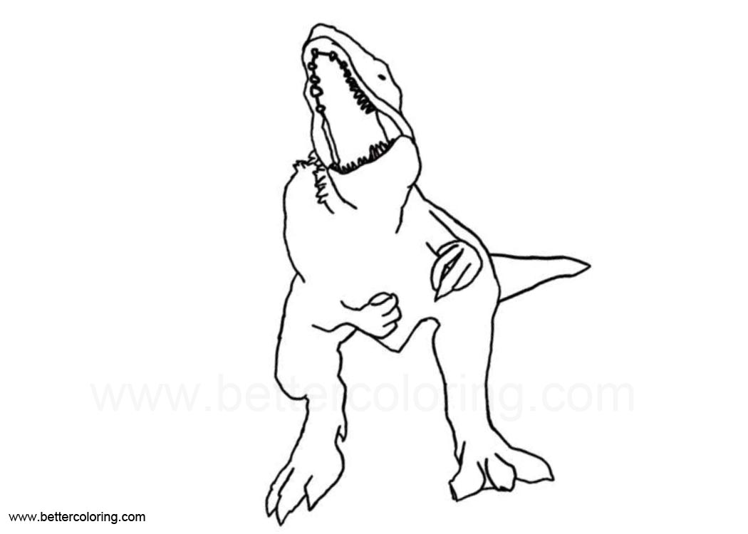 Jurassic World Indoraptor Coloring Pages Free Printable Coloring Pages