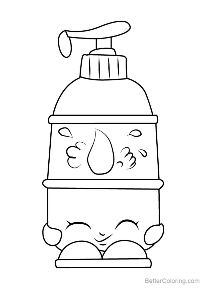 Free La Lotion from Shopkins Coloring Pages printable