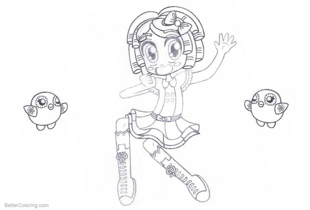 Lalaloopsy Coloring Pages Dot Starlight Lineart by ...