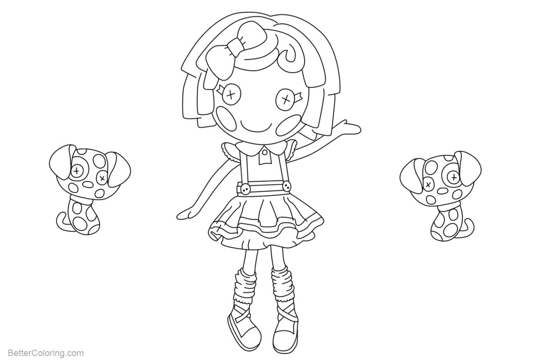 Free Lalaloopsy Coloring Pages Line Drawing printable