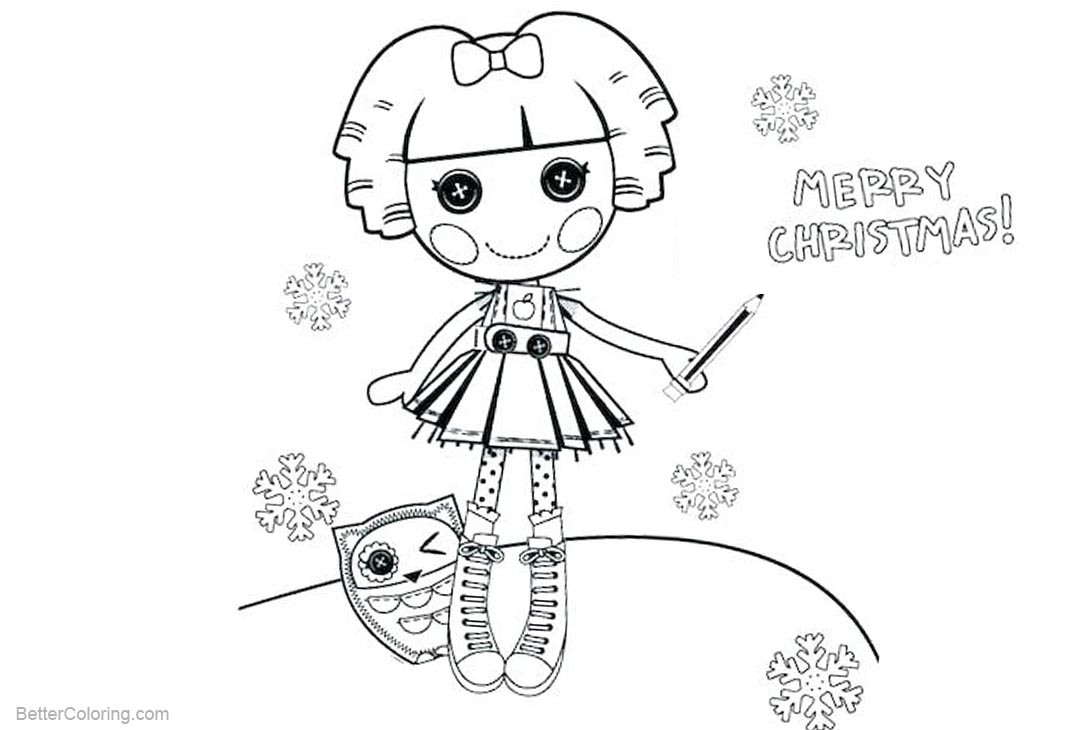 Lalaloopsy Coloring Pages Merry Christmas - Free Printable Coloring ...