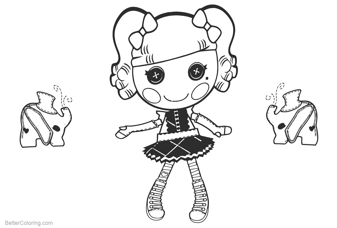 lalaloopsy coloring pages baby elephant - photo#1