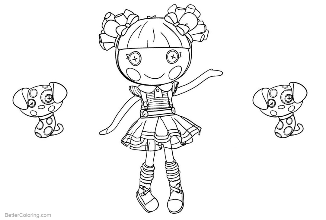 Free Lalaloopsy Coloring Pages Scraps Stitched N Sewn printable