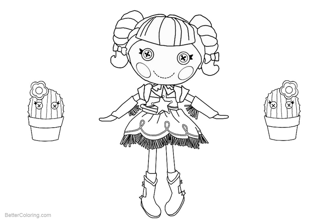 Free Lalaloopsy Coloring Pages with Cactus printable