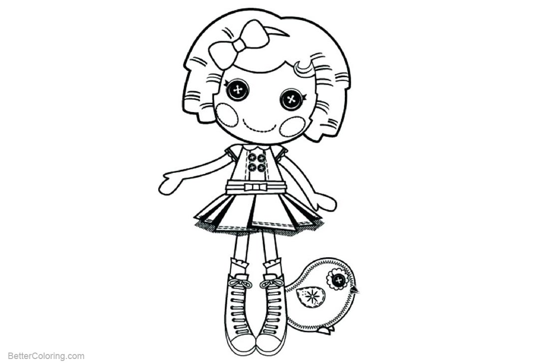 Free Lalaloopsy Coloring Pages with Chick Pet printable