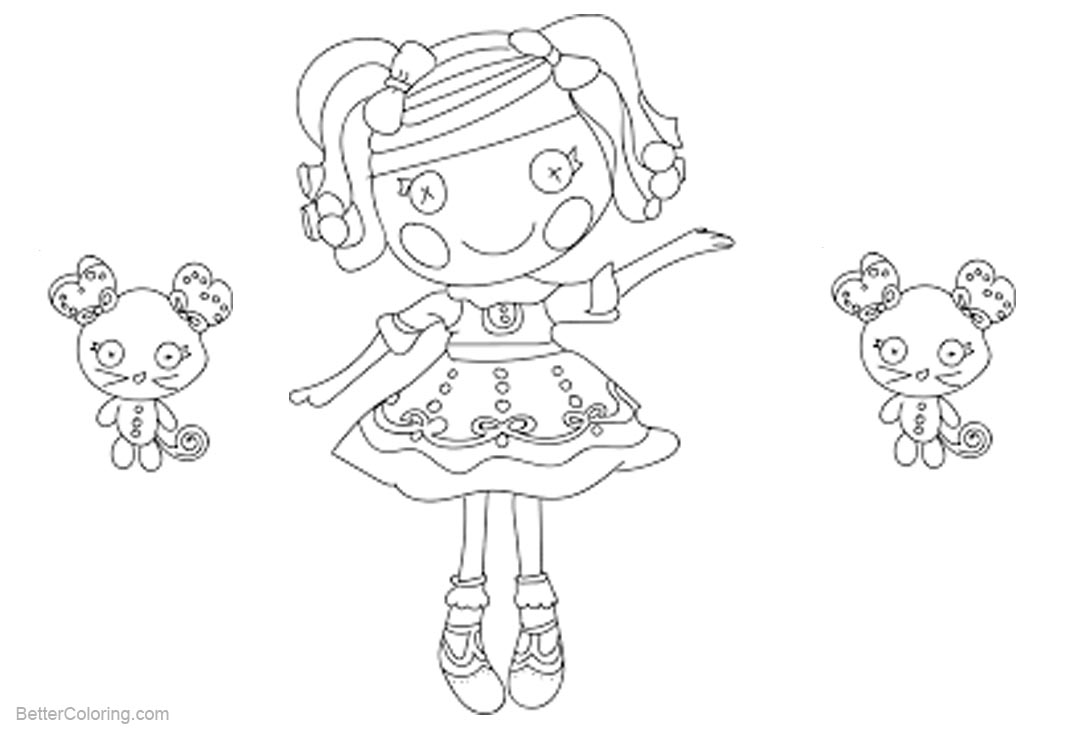 Free Lalaloopsy Coloring Pages with Kitty printable
