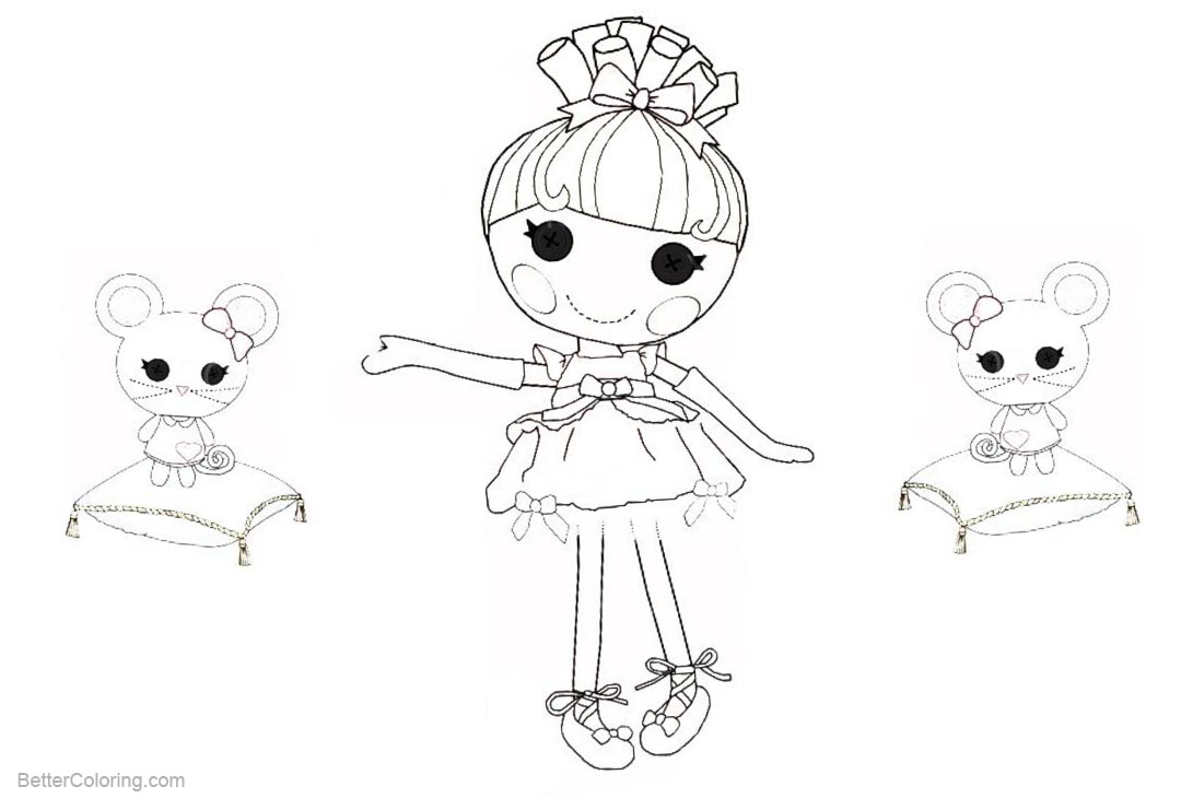 Free Lalaloopsy Coloring Pages with Mouse printable