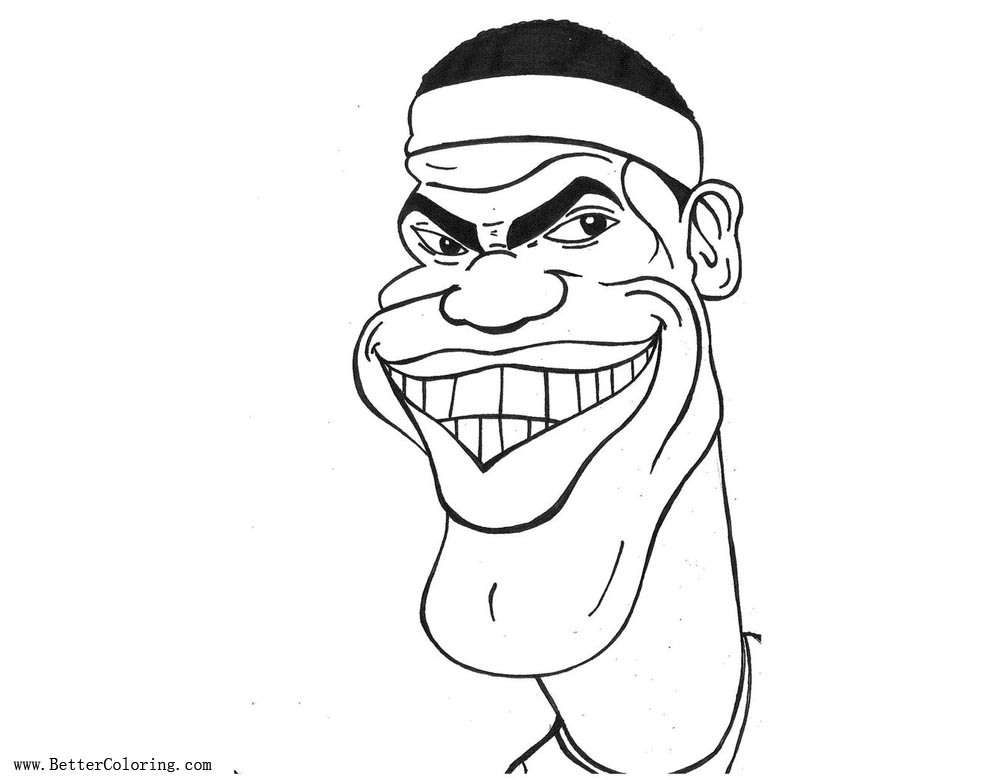 Lebron James Coloring Pages Caricature by MoKheir - Free ...