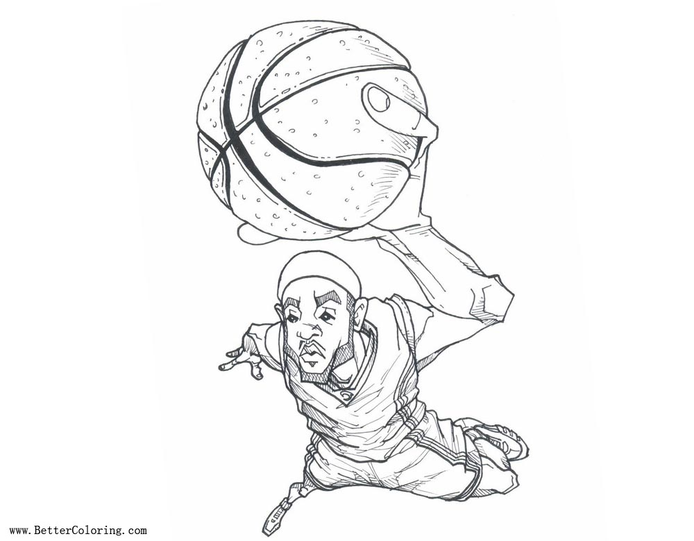 free coloring pages of lebron - photo#24