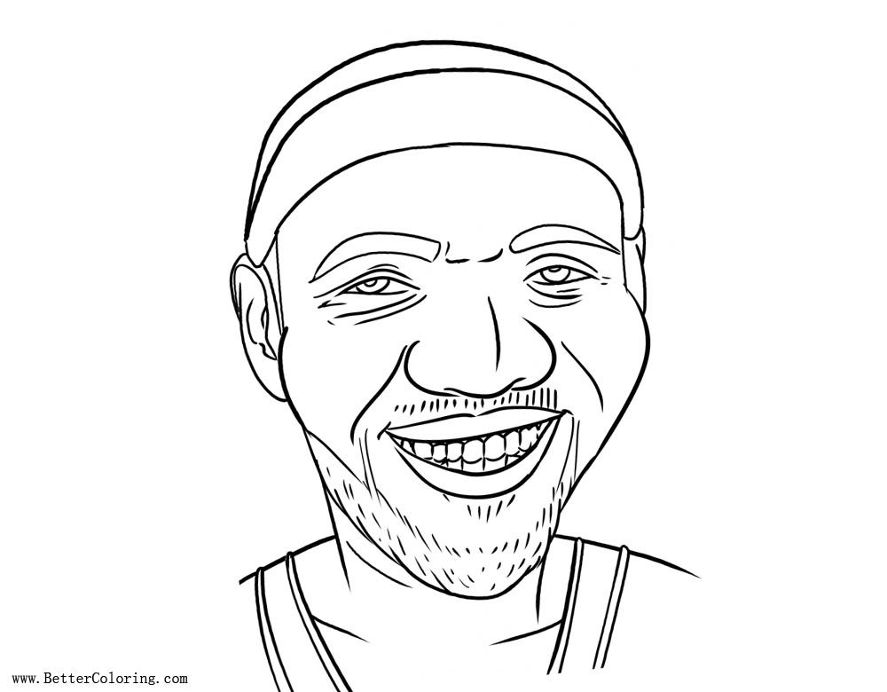 Free Lebron James Coloring Pages Line Drawing printable